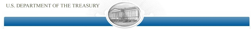 Department of Treasury Banner